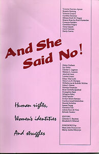 And She Said No -- Human Rights, Women's Identities, and Struggles -- SIGNED!