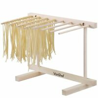 VonShef Pasta Spaghetti Drying Rack Stand Dryer Italian Style Collapsible Wooden