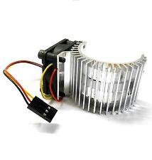 540 550 560 RC EP Dissipatore di calore motore elettrico con ventola 6v Lato Argento Scala 1/10