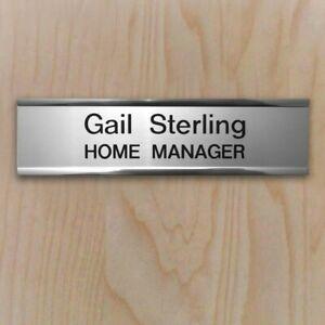 Custom Doorplate & inserts for office admin beauty hospital care home door sign
