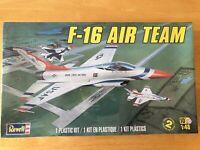 Revell 1/48 F-16 Air Team USAF Plastic Model Kit Jet Fighter (Sealed)
