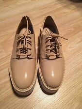 *SOLD OUT Zara Nude Platform Lace Up Brogues/Blucher* REDUCED TO GO