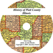 2 in 1 History & Genealogy of PIATT County Illinois IL