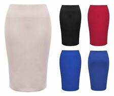 Unbranded No Pattern Knee Length Stretch, Bodycon Women's Skirts