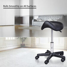 Saddle Massage Stool Beauty Salon Manicure Tattoo Swivel Gas Lift Stools Chair