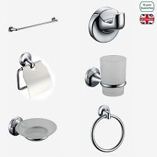 SWAN ROUND BATHROOM MODERN GLASS WALL STAINLESS STEEL ACCESSORY DESIGNER SET