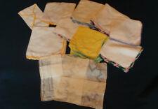 Vintage 11 Handkerchiefs Hankies 9 Crochet Edge Trim + 2 cutout