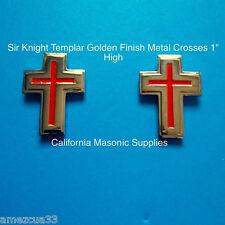 sleeves and collar Sir Knight Templar Golden Crosses {one pair} York Rite Masons
