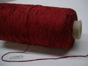 Paprika Red Rayon 2010 ypp Chenille 4 Cones Yarn~ 3.8 lbs