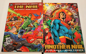 JLA JUSTICE LEAGUE THE NAIL & ANOTHER NAIL VOL 1 2 SET LOT COMPLETE TP TPB