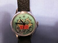 Return of the Jedi Star Wars Ewok Wind-up Wrist Watch New: Bradley Time 1983