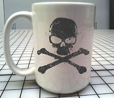 Big Scull and crossbones 15oz Coffee Mug biker / hotrod style