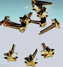 "Lot of 5 Gold Stars ribbon/medal attachments gold surface 3/16"" Mil. Surplus"