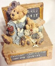 Boyds Bears Miss Bruin & Bailey The Lesson Music Box Getting to Know You Song