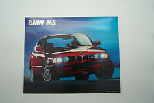 1990 bmw m5 owners sales brochure used original 1 page m 5 euro model