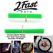 2FastMoto Spoke Wrap Kit Green White BMX Hoffman Haro GT DK Verde Wraps Covers