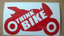 Pensate MOTO BIKER MOTO SICUREZZA adesivo vinile Segno AUTO FURGONE CASCO WALL ART TT