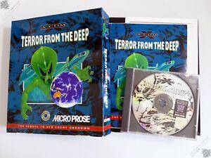 PC IBM X-COM TERROR FROM THE DEEP BIG BOX WINDOWS 95 COMPUTER GAME MICROPROSE