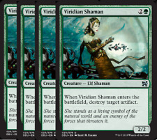 Viridian Shaman NM X4 Duel Decks: Elves Vs Inventors Green Uncomm