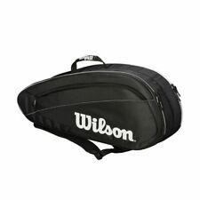 Wilson Z83486 Federer Team Tennis Bag - Black/White (6 Pack)