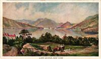 Vintage Postcard - Lake George Lake And Mountains Un-Posted New York NY #4253