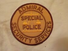 VINTAGE PATCH ADMIRAL SECURITY SERVICES