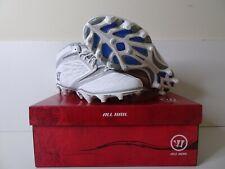 New Warrior Burn6Mwt 6.0 Medium Lacrosse Men Cleats Shoes Silver/White 10.5