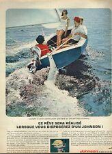 E- Publicité Advertising 1965 Moteur bateau Hors Bord Johnson