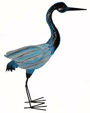 Large Heron Handmade Coastal Metal Garden Statue Crane Bird Yard Art Sculpture