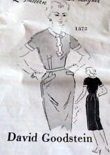 LOVELY VTG 1950s DRESS SPADEA DESIGNER GOODSTEIN Sewing Pattern BUST 34