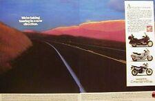 1989 HONDA PACIFIC COAST GOLD WING & TRANSLAP  2 Page Motorcycle Ad