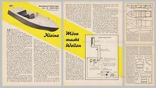 Bauplan Rennboot Modell MÖVE für Distler Motor M 70 - Original von 1956