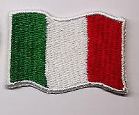 4 TOPPE PATCH RICAMATE TERMOADESIVE KIT ITALIA BANDIERA TRICOLORE 4,5 X 3 CM