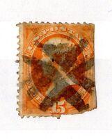 USA 1870-73 15c Orange Webster Used X4108