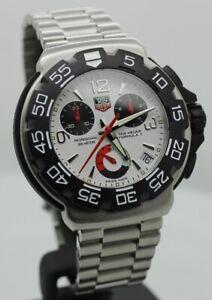 TAG HEUER CHRONOGRAPH White Swiss Rotating Bezel Quartz Watch