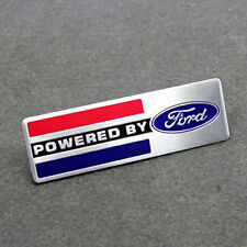 Auto Car Alu Badge Emblem Decal Stickers For Ford Edge POWERED BY Racing Sports