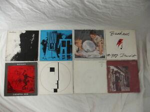 "BAUHAUS 8 x 7"" SINGLES JOB LOT - ZIGGY, TERROR COUPLE, DARK ENTRIES, SPIRIT, SAM"