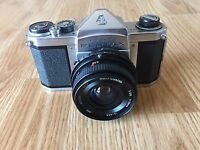 Vintage ASAHI PENTAX CAMERA H2 With KITSTAR MULTI COATED 1:2.8 F=28mm LENS