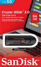 SanDisk 64GB USB SD CZ600 Cruzer Glide 64G USB 3.0 Drive SDCZ600-064G