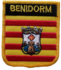 Benidorm Spain Shield Embroidered Patch