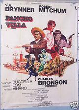AFFICHE ANCIENNE  FILM 1968 PANCHO VILLA -  ROBERT MITCHUM YUL BRYNNER C BRONSON