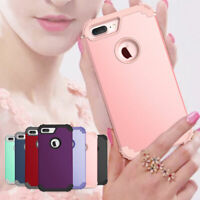 Heavy Duty Hybrid Rugged Rubber Phone Case Cover For Apple iPhone 7 8 Plus 7 8