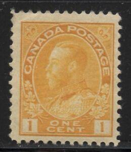 Canada 1922 1c Orange Yellow Admiral Sc# 105 NH
