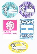 LOLLAPALOOZA 1994 CONCERT TOUR LOCAL CREW SATIN SILK CLOTH STICKY BACKSTAGE PASS