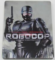 ROBOCOP Remastered Unrated Director's Cut STEELBOOK Blu Ray Metalpak Target 1987