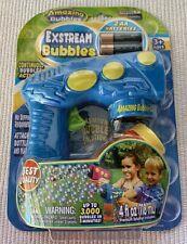 Amazing Bubbles Exstream Bubble Gun Blue Kids Outdoor Toy New