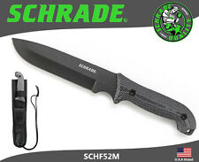 Schrade Frontier Fixed Knife Full Tang 1095 Carbon Micarta Handle Sheath SCHF52M