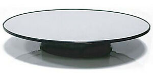 "Autoart 12"" Rotating Display Stand Turntable matte silver top  A98012"