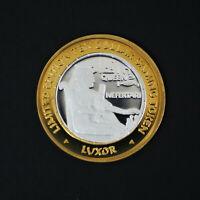 Ltd Ed Queen Nefertari Luxor Las Vegas $10 Silver Casino Token .999 Fine A1963