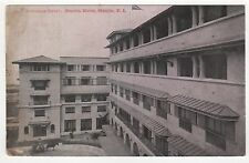 MANILA HOTEL Philippines FILIPINO PC Postcard ENTRANCE COURT Bay ASIA Asian